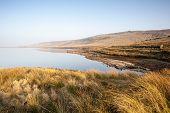 Shallow Yorkshire moorland reservoir