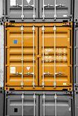 Container Orange Black/white