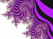 Purple striped fractal background