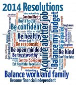 image of responsible  - New Year Resolution in word collage - JPG