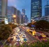 City Traffic at Night - Motion Blur