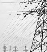 stock photo of dynamo  - Transmission Line Tower - JPG