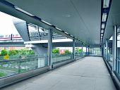 Footbridge corridor