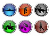 glossy sport buttons set