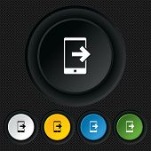 Outcoming call sign icon. Smartphone symbol.