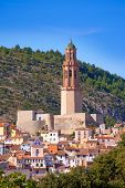 Jerica Castellon village skyline in Alto Palancia of Spain Valencian Community