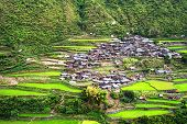 stock photo of luzon  - View of village in Cordillera mountains Luzon Philippines - JPG