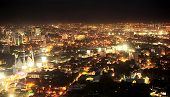 stock photo of cebu  - Panorama of Metro Cebu at night. Cebu is the Philippines second most significant metropolitan centre and main domestic shipping port.