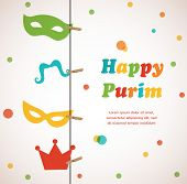 Jewish Holiday Purim Set. Vector Illustration. Happy Purim.