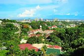 stock photo of significant  - Skyline of Metro Cebu from Taoist temple - JPG