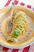 Spaghetti With Fresh Green Pesto