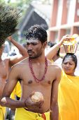 Penang, Malaysia - January 17: Indian Devotee Prepare For Celebrate At Thaipusam Festival On January