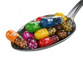 stock photo of spooning  - Dietary supplements - JPG