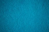 Turquoise Bath Towel Surface Texture, Close Up