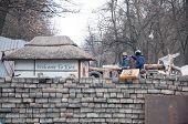 KIEV,UKRAINE FEB 22: Kiosk with