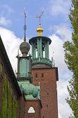 Stockholm, Sweden. Architectural details of the City Hall.