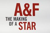 LOS ANGELES - FEB 22:  Abercrombie & Fitch sign at the Abercrombie & Fitch 'The Making of a Star' Sp