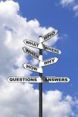 Questions And Answers Signpost Vertical