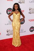 LOS ANGELES - FEB 22:  Melissa Grimmond at the 45th NAACP Image Awards Arrivals at Pasadena Civic Au