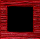 Square Framed Text Box Red Black Background