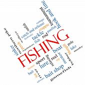 Fishing Word Cloud Concept Angled