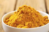 picture of garam masala  - detail of curry powder in a bowl - JPG