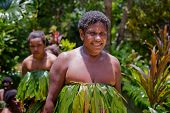 Melanesian women after water dance in Luganville, Vanuatu