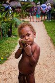 Melanesian boy in Luganville, Vanuatu