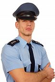 Portrait of young policeman