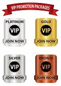 pic of bronze silver gold platinum  - VIP membership badges that can be used for membership plan deals or promotion - JPG
