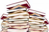 image of short-story  - Stacked books isolated on white background - JPG