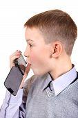 Boy Talking On Cellphone