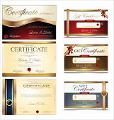 Certificate template, collection