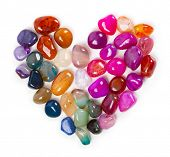 stock photo of precious stone  - Heart of gems - JPG
