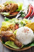 foto of nasi  - Famous traditional Malay food - JPG