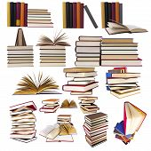 picture of short-story  - collection and set of stacked books isolated on white background - JPG