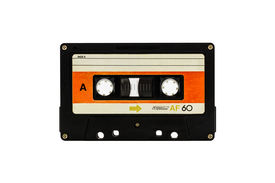 picture of outdated  - Closeup cassette tape isolate on white background - JPG