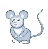 mouse isolated on white (vector illustration)