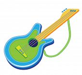 toy guitar (vector illustration)