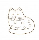 cat isolated on white (vector illustration)