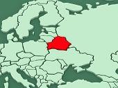 Map of worlds. Belarus. 3d