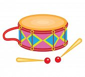 toy drum (vector illustration)