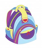 School bag. Back To School. Vector Illustrations