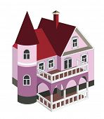 vintage house (vector illustration)