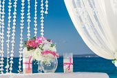 foto of cabana  - beach wedding set up - JPG