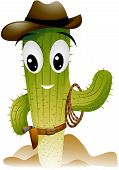 stock photo of vacuum pump  - An Illustration of a Cactus Cowboy with Clipping Path - JPG
