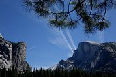 picture of granite dome  - Half Dome is a famous landmark in California