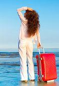 Woman Beach Baggage
