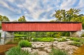 Cataract Covered Bridge Over Mill Creek