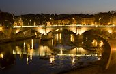 Rome - Vitorio Emanuelle bridge - night
